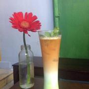 Ice milk tea green
