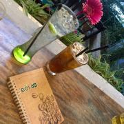 Soda chanh + trà đào vải