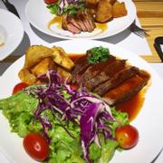 Bò Mỹ áp chảo (lớn) sốt BBQ 160k