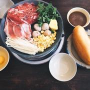 Chảo thịt bò chan sốt tương Nhật