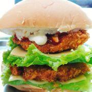 burger 2 tầng ( bò, gà, tôm, xx khói)