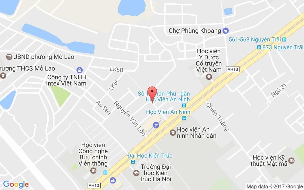 Vị trí bản đồ C1 Khu Tập Thể X25 Bộ Công An, An Hòa Quận Thanh Xuân Hà Nội