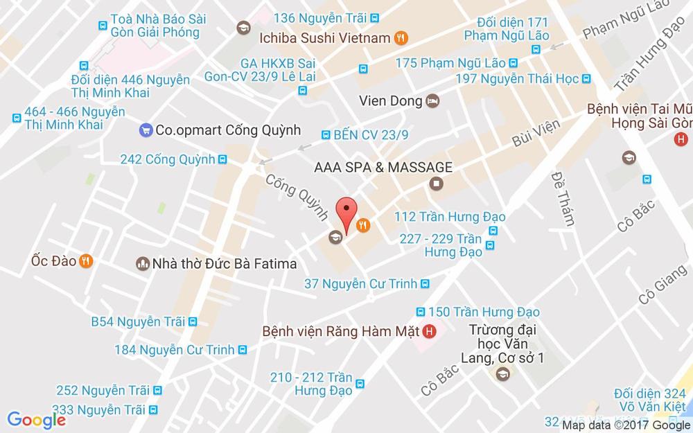 Vị trí bản đồ 124 Cống Quỳnh, P. Phạm Ngũ Lão Quận 1 TP. HCM