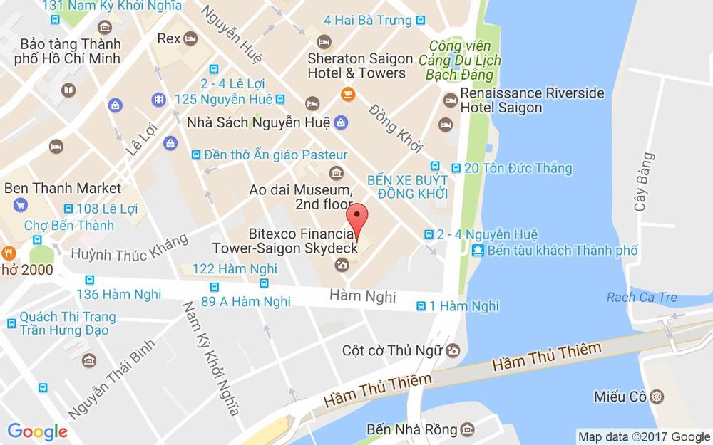 Vị trí bản đồ 2 Hải Triều, P. Bến Nghé Quận 1 TP. HCM