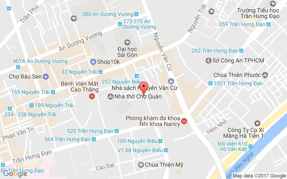 Vị trí bản đồ 207 Nguyễn Biểu, P. 2 Quận 5 TP. HCM