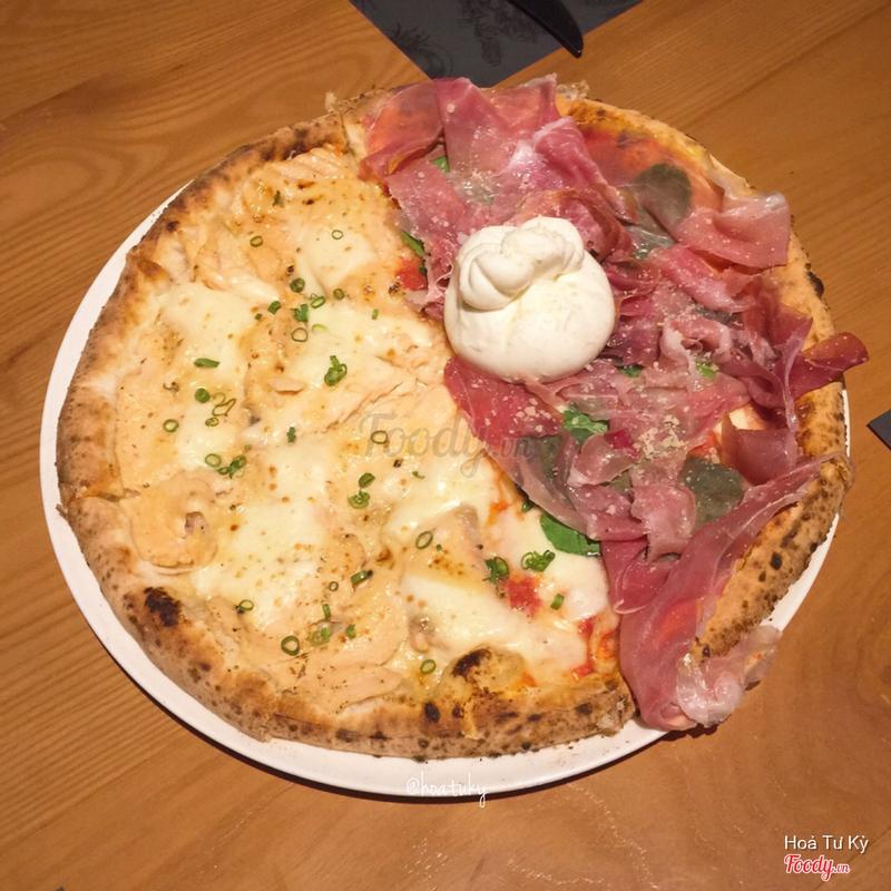 Salmon Miso Cream & Burrata Parma Ham Margheritta