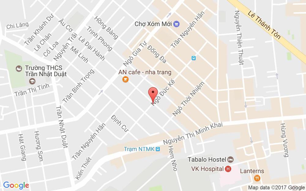 Vị trí bản đồ 34 Ngô Đức Kế Tp. Nha Trang Khánh Hoà