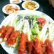 Bò cuộn kim chi
