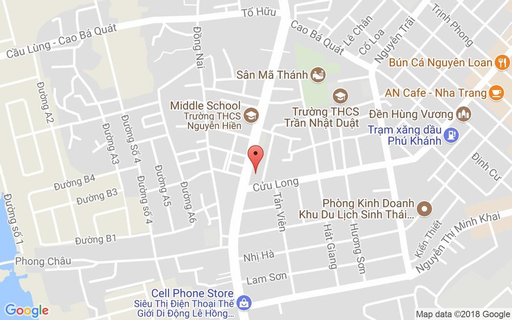 Vị trí bản đồ Cửu Long Tp. Nha Trang Khánh Hoà