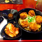 cơm gà + kim chi