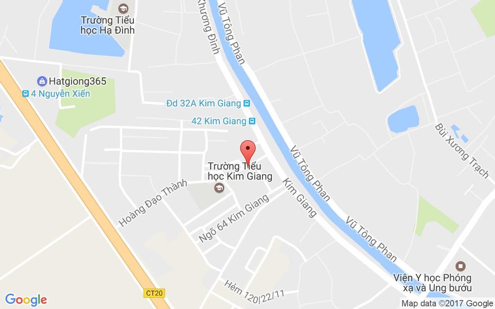 Vị trí bản đồ 103 H1 Hoàng Đạo Thành Quận Thanh Xuân Hà Nội