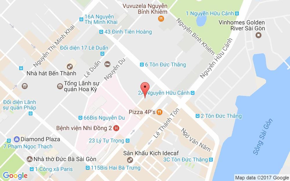 Vị trí bản đồ 31 Nguyễn Trung Ngạn, P. Bến Nghé Quận 1 TP. HCM