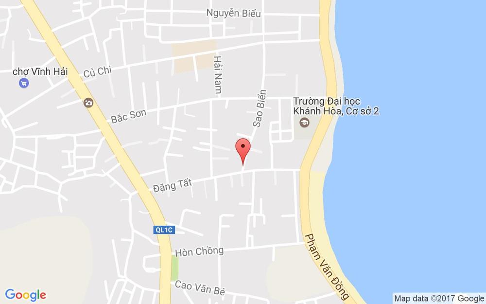 Vị trí bản đồ 18A Sao Biển Tp. Nha Trang Khánh Hoà