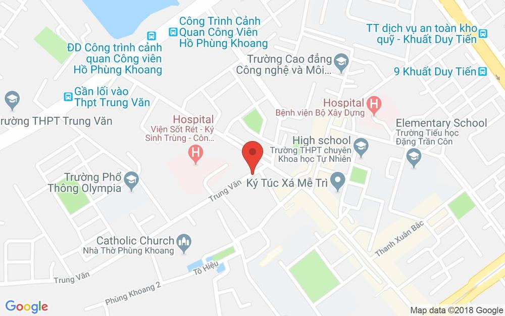 Vị trí bản đồ 117 Lương Thế Vinh Quận Thanh Xuân Hà Nội