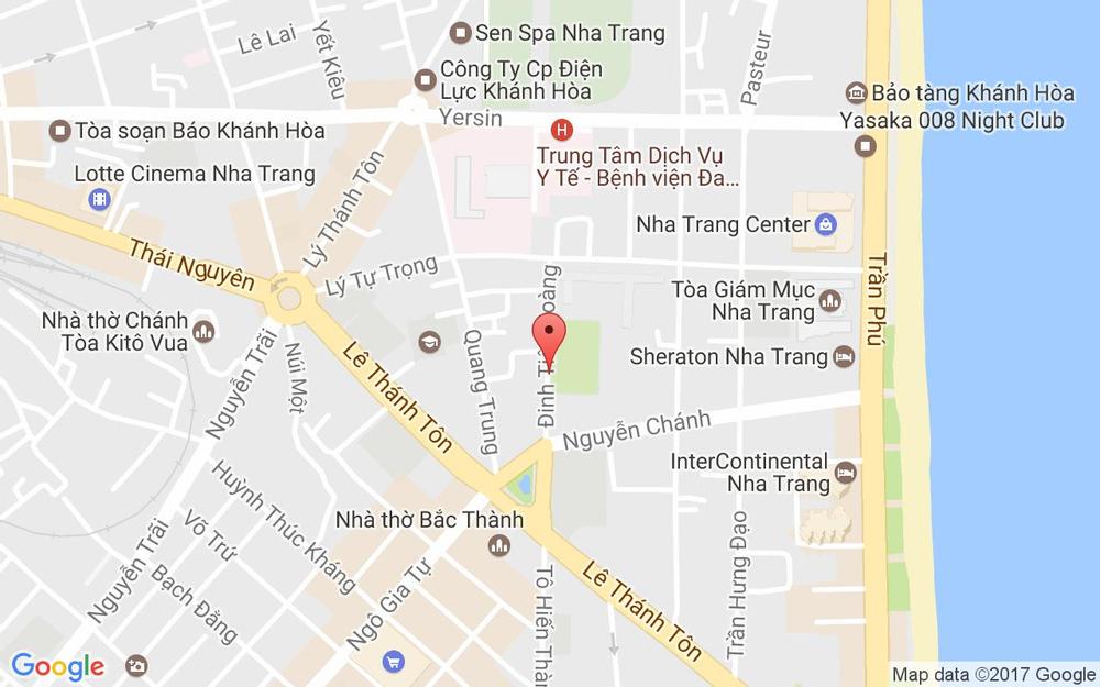 Vị trí bản đồ 14 Đinh Tiên Hoàng Tp. Nha Trang Khánh Hoà
