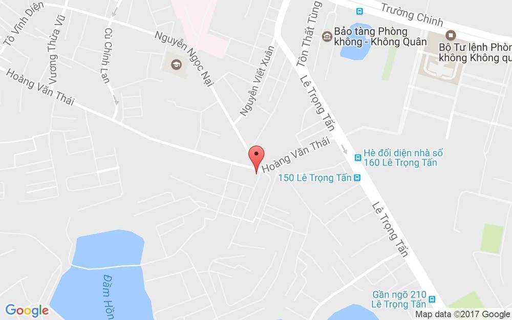 Vị trí bản đồ Chợ Hoàng Văn Thái ở Hà Nội