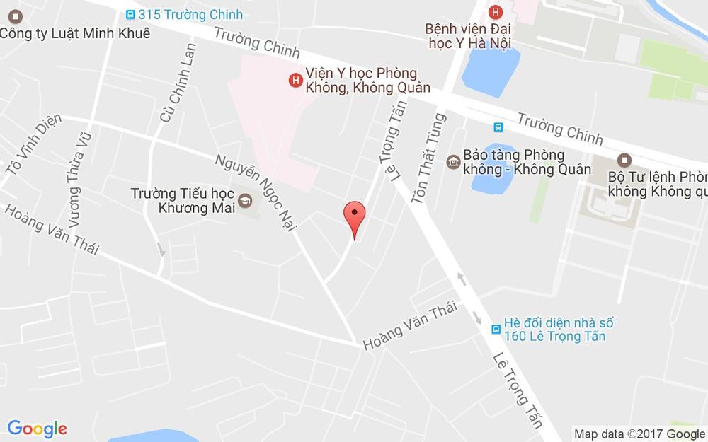 Vị trí bản đồ 47 Nguyễn Viết Xuân Quận Thanh Xuân Hà Nội