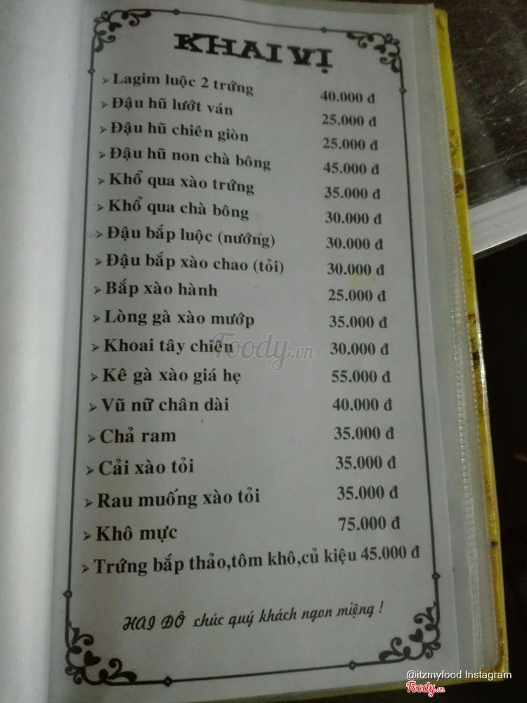 2 Đô - Quán Nhậu Bình Dân ở Khánh Hoà