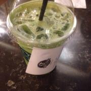 Green tea latte cold