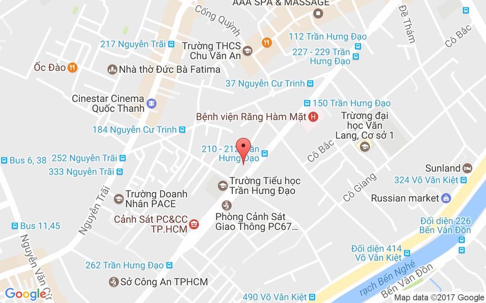 Vị trí bản đồ 31B Cao Bá Nhạ, P. Nguyễn Cư Trinh Quận 1 TP. HCM