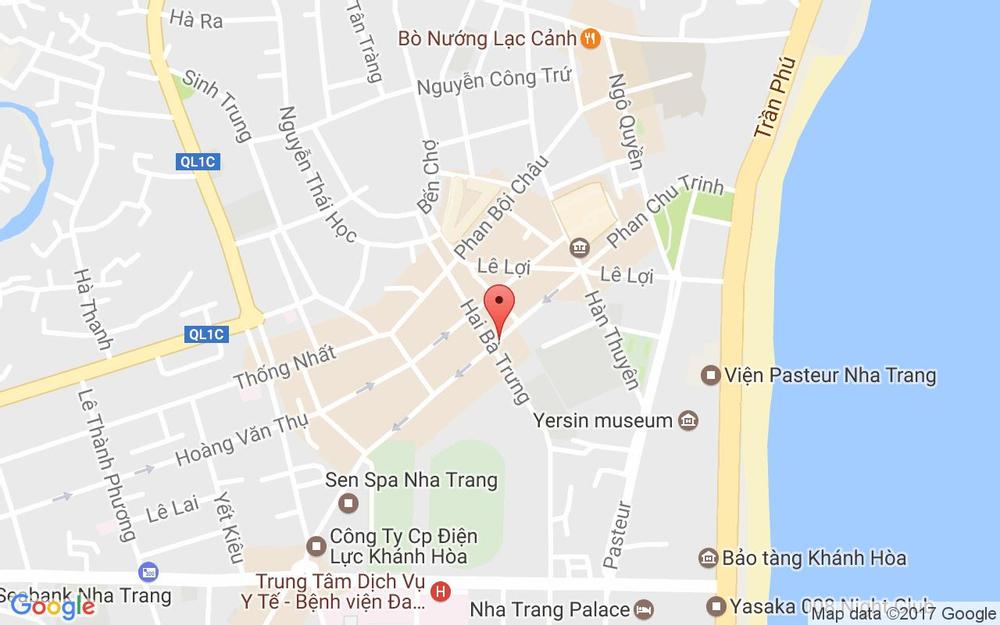 Vị trí bản đồ 21 Phan Chu Trinh Tp. Nha Trang Khánh Hoà