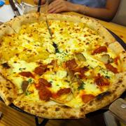 Pizza gà cay và khoai lang