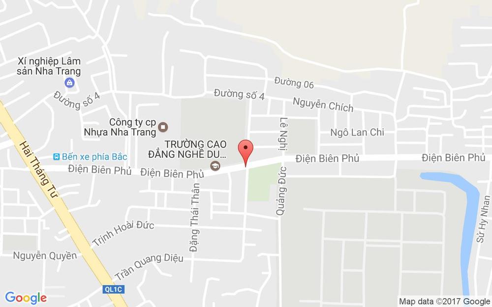 Vị trí bản đồ Đối Diện Chung Cư 40 Điện Biên Phủ Tp. Nha Trang Khánh Hoà