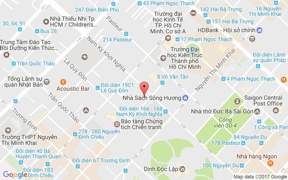 Vị trí bản đồ 14 Võ Văn Tần Quận 3 TP. HCM