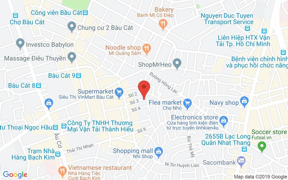 Vị trí bản đồ 199 Nguyễn Thái Bình, P. 4 Quận Tân Bình TP. HCM