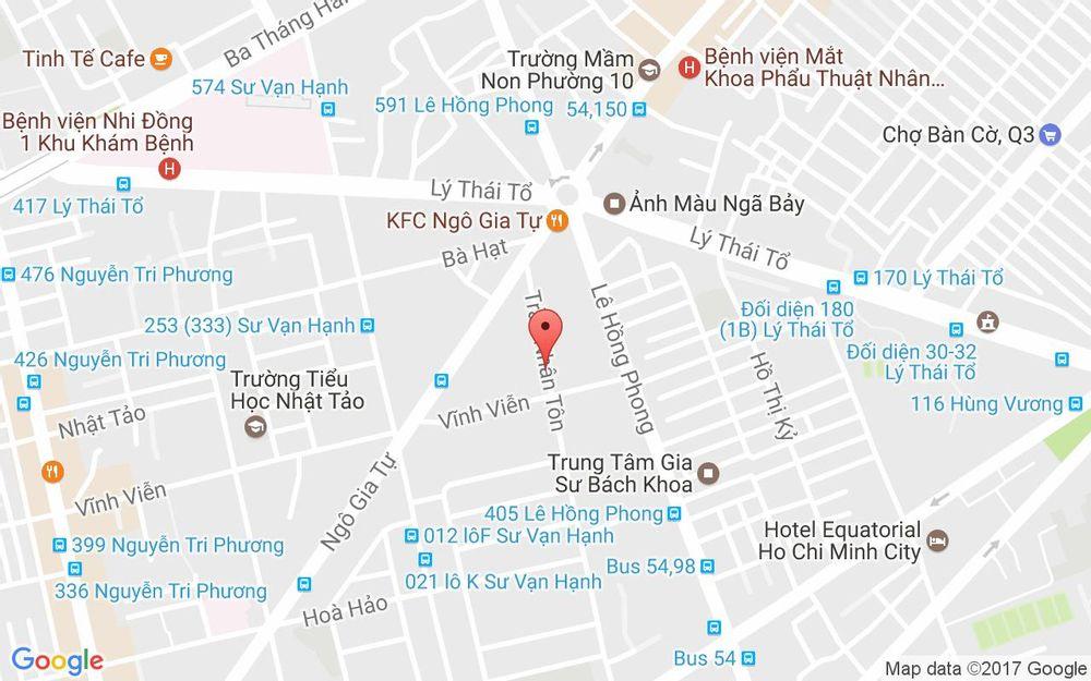 Vị trí bản đồ 258 Trần Nhân Tôn, P. 2 Quận 10 TP. HCM
