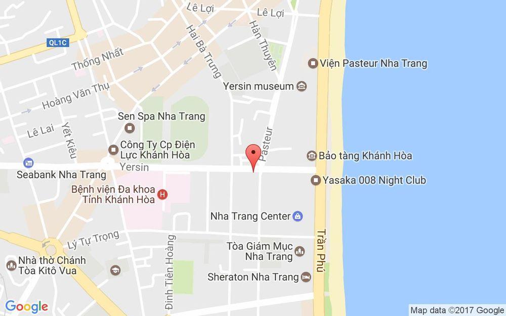Vị trí bản đồ 11 Yersin Tp. Nha Trang Khánh Hoà