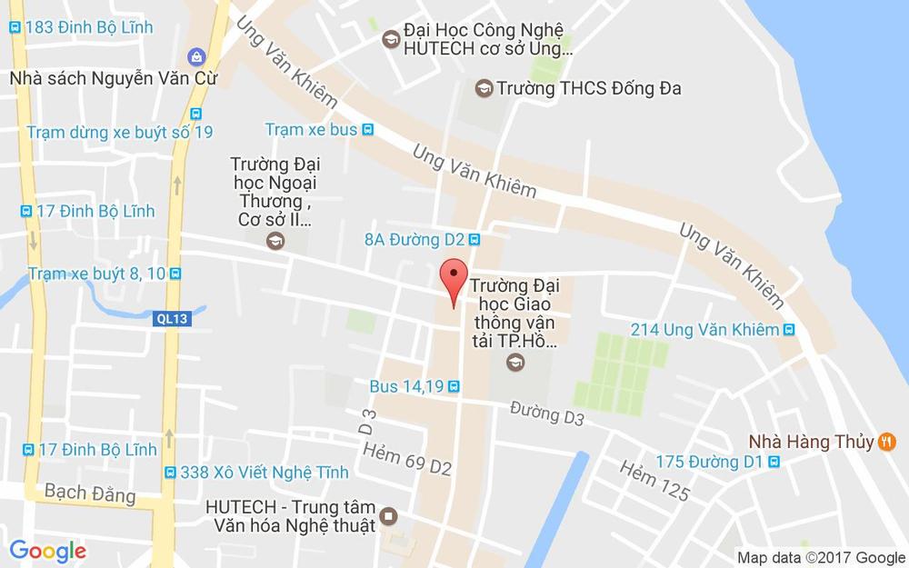 Vị trí bản đồ 36/70/11 Đường D2, P. 25 Quận Bình Thạnh TP. HCM