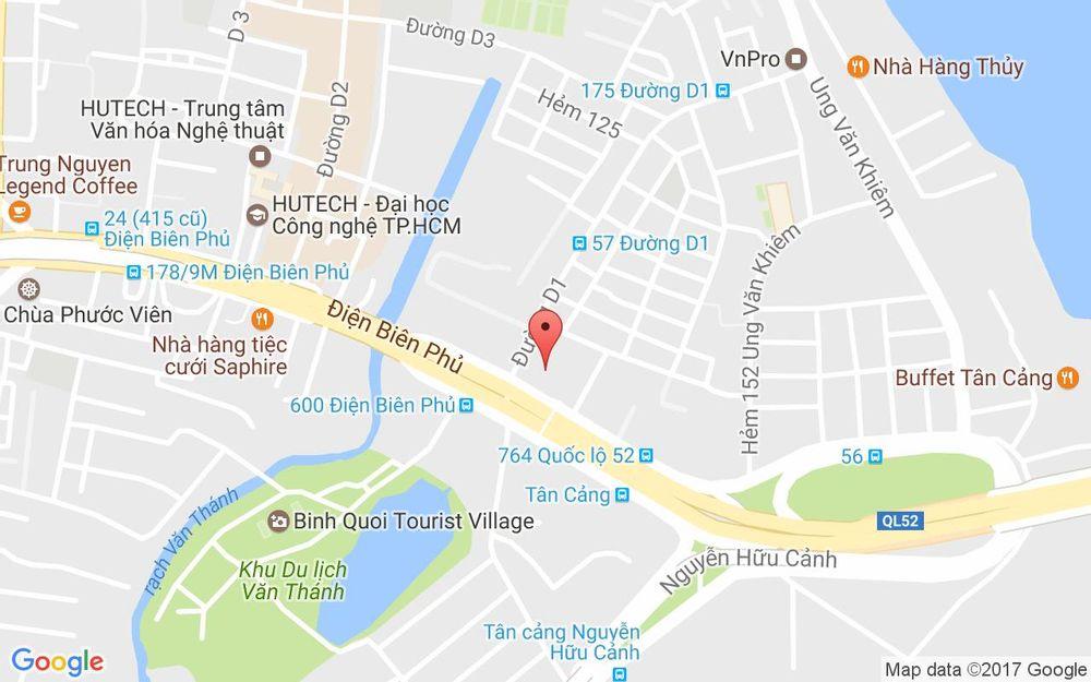 Vị trí bản đồ B1 - Pearl Plaza, P. 25 Quận Bình Thạnh TP. HCM