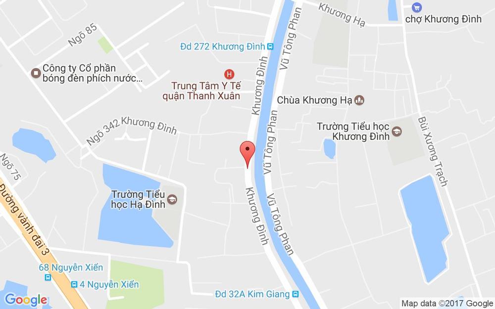 Vị trí bản đồ 386 Khương Đình Quận Thanh Xuân Hà Nội