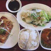 Set cơm cá fillet nướng muối sả - 140k