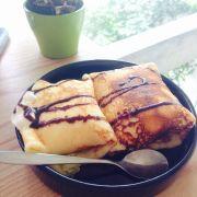 Bánh crepe nhân kem đào (26k)