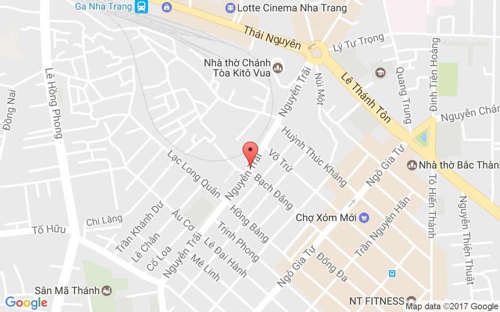 Vị trí bản đồ 89 Nguyễn Trãi Tp. Nha Trang Khánh Hoà