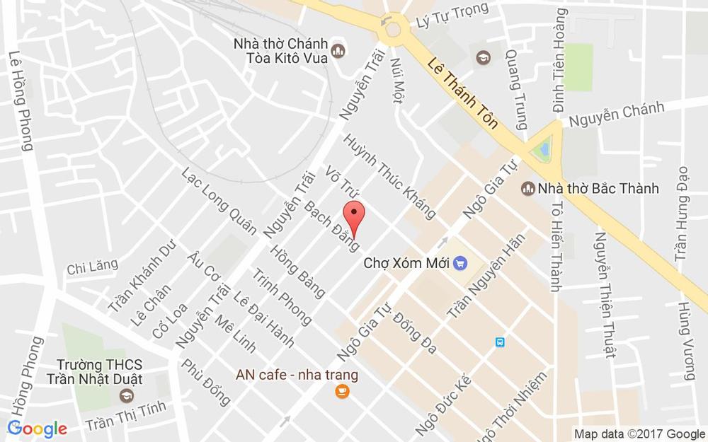 Vị trí bản đồ 17A Bạch Đằng Tp. Nha Trang Khánh Hoà