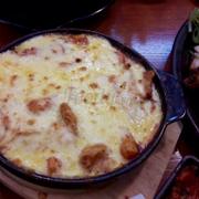 Topokki phủ phô mai: 👍🏻👌🏻 cayy🌶 kimchi, chả cá ....