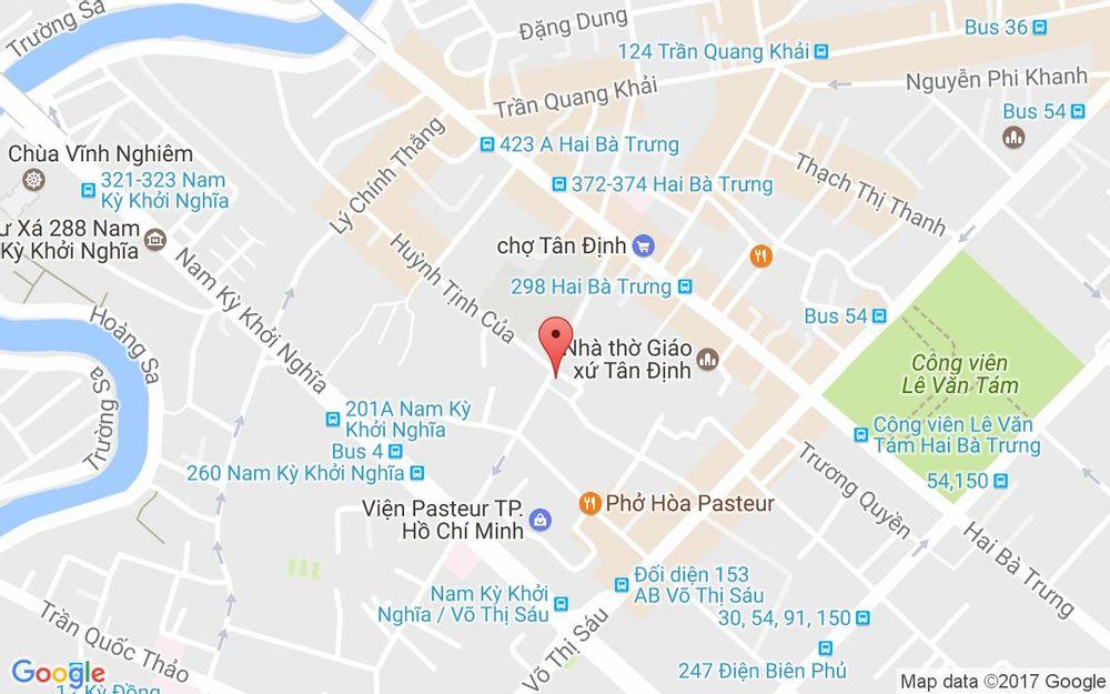 Vị trí bản đồ 47 Trần Quốc Toản, P. 8 Quận 3 TP. HCM