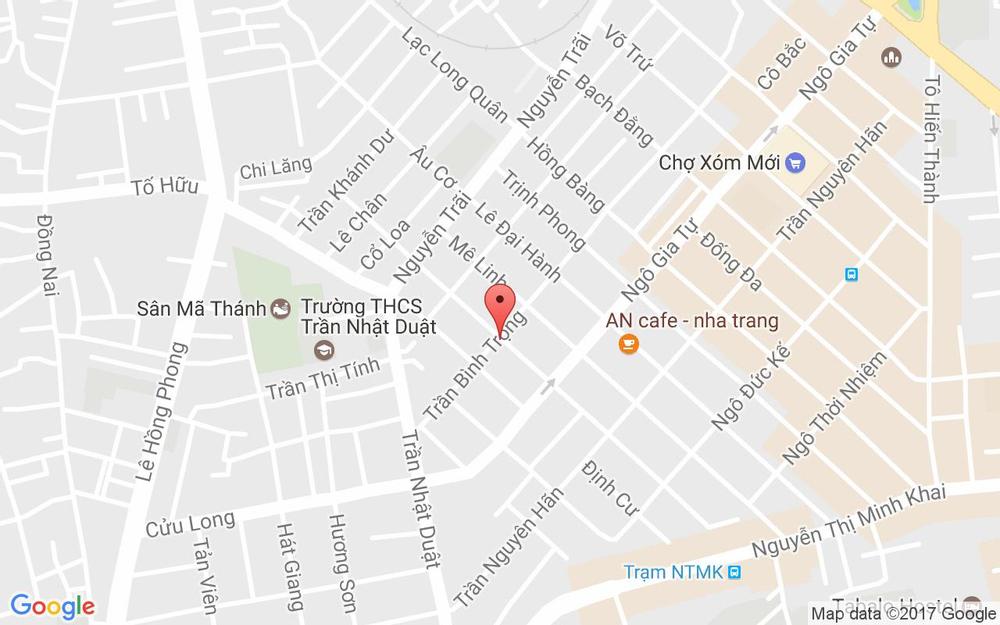 Vị trí bản đồ 94 Trần Bình Trọng Tp. Nha Trang Khánh Hoà