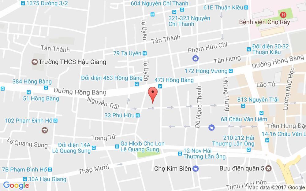 Vị trí bản đồ 940 Nguyễn Trãi, P. 14 Quận 5 TP. HCM
