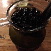 Hồng trà bạc hà thêm hạt thuỷ tinh cà phê( khá nhiều và to)!!!