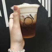 Black tea Macchiato size S
