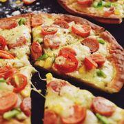 Pizza xúc xích ngon
