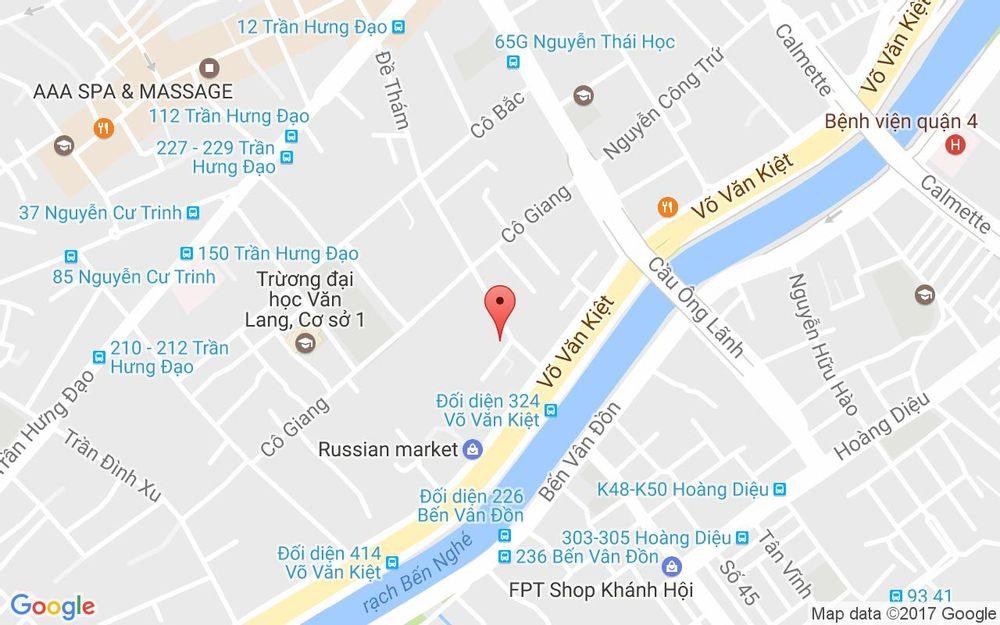 Vị trí bản đồ 2Bis Nguyễn Thị Minh Khai, P. Đa Kao Quận 1 TP. HCM