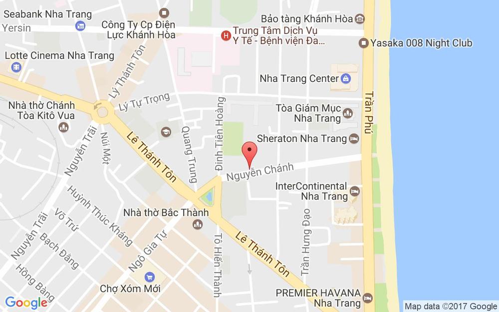 Vị trí bản đồ 20 Nguyễn Chánh Tp. Nha Trang Khánh Hoà