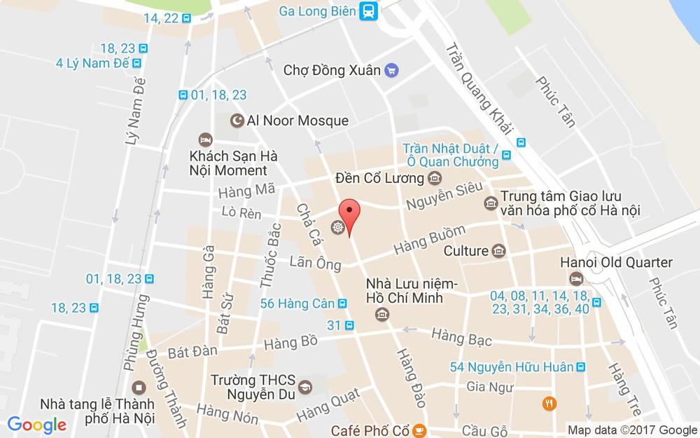 Vị trí bản đồ Hanoi Rock Hostel ở Hà Nội
