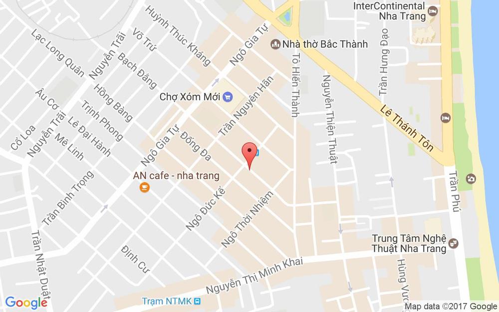 Vị trí bản đồ 126 Bạch Đằng Tp. Nha Trang Khánh Hoà