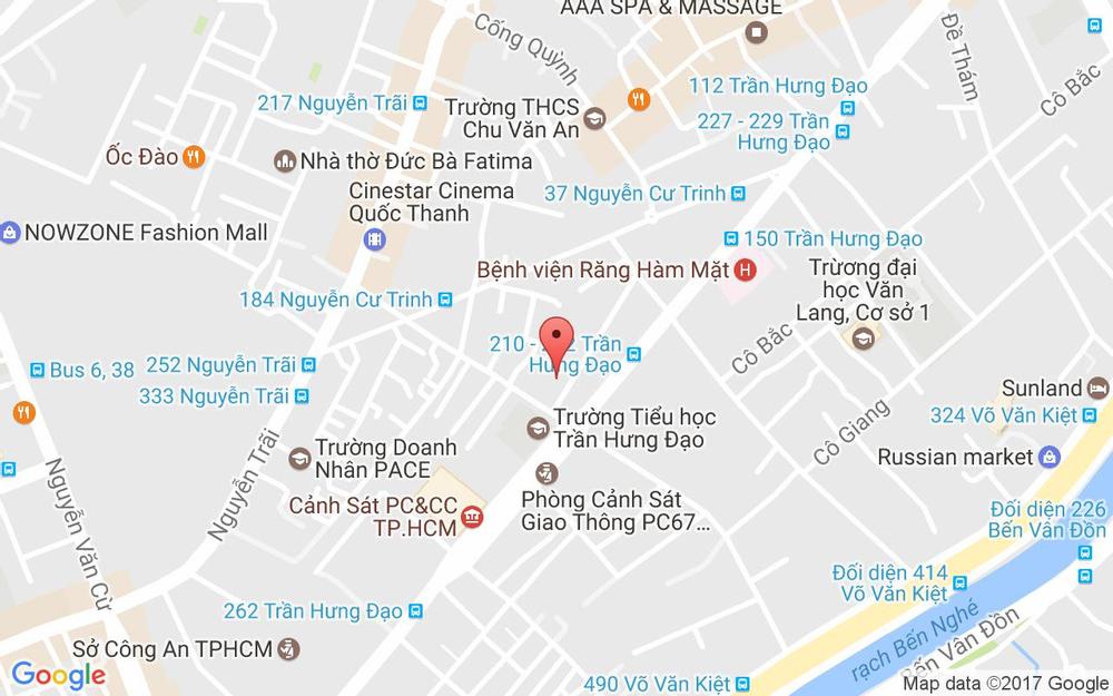 Vị trí bản đồ 54 Cao Bá Nhạ, P. Nguyễn Cư Trinh Quận 1 TP. HCM